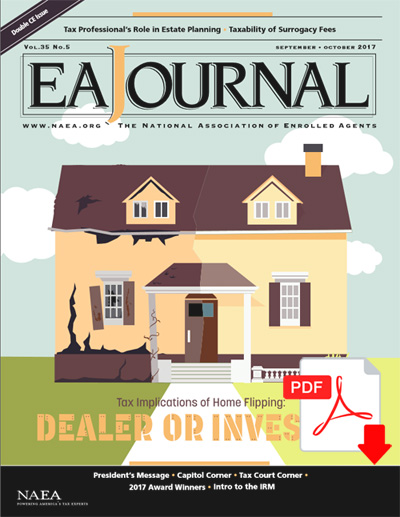 Published on the Cover of The EA Journal | Automated Accounting Inc